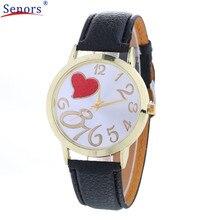 Relogio Feminino Girls Analog Quartz Dial Hour Leather-based Wristwatch Reloj Mujer Spherical Case Time Clock Girl Present new design Dec13