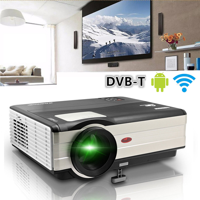 Caiwei Digital Led Projector Home Theater Beamer Lcd: CAIWEI Home Use DVB T2 Projector LED LCD Digital TV