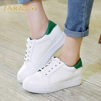 SaraIris Women's Quality Lace Up White Green Red Black Casual Sneakers Comfy Insole School Girls Vulcanize Shoes