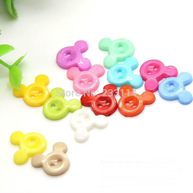 A16 Wholesale colored buttons Mickey cartoon children animal diy decorative buckle clothing buttons scrapbooking buttons mixed