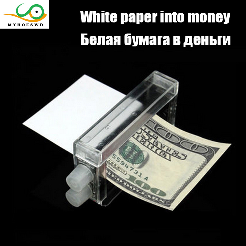 MYHOESWD Paper Becomes Money Magic Props Funny Toys For Children Practical Gag-Funny Joke Tricky Toys Mischief Turd Gag Gift