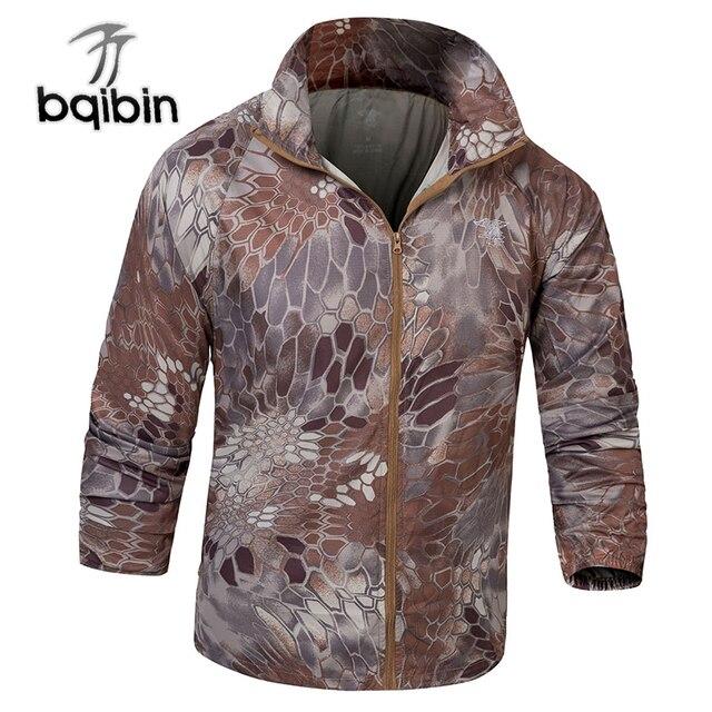 Мужская куртка-бомбер тонкая камуфляжная военная куртка с длинными рукавами 2019 ветровка на молнии Верхняя одежда армейская брендовая одежда