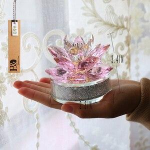 Image 5 - H & D En Kalite Noel Hediyeler K9 kristal lotus çiçeği Paperweight Için Ev Dekorasyon, Düğün Iyilik, Araba ofis masası Süsler