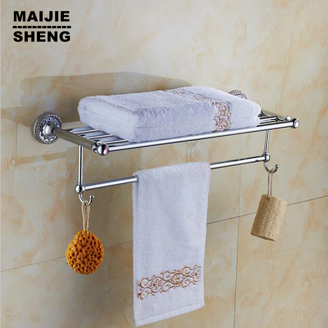 Pink crystal chrome bathroom towel rack bathroom shelf towel holder ...
