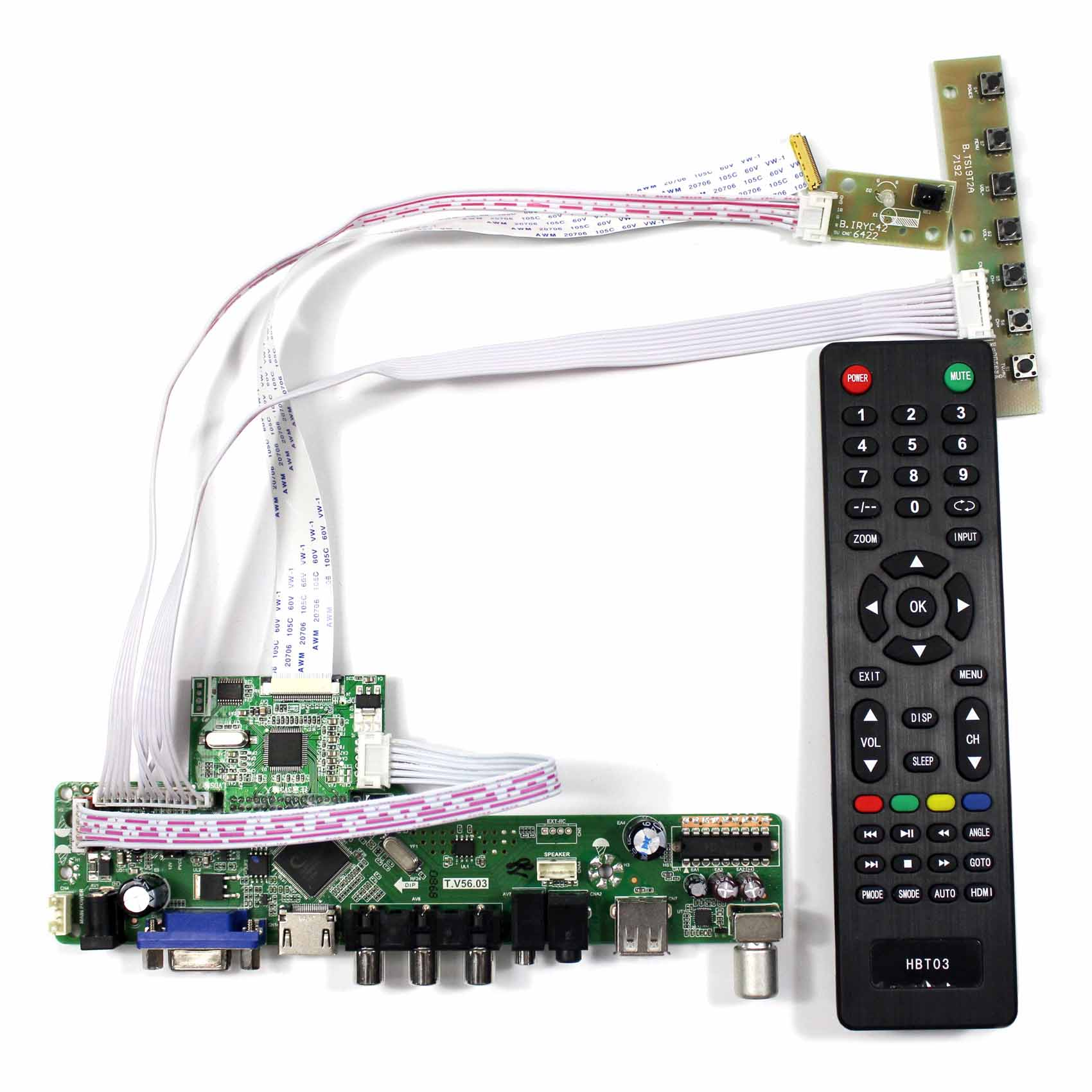 """11. 6inch IPS  LCD  11.6"""" 1920X1080 eDP screen M116X40  work with TV board (HDMI USB AV driver board with romote control)"""