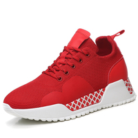 Hot Sale 2019 New Sneakers Women 35 40 Platform Red Sneakers Shoes Casual Flats Breathable Soft Woman Chunky Shoes B0027