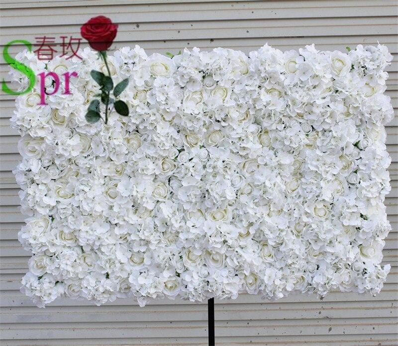 SPR Livraison Gratuite 10 pcs/lot IVOIRE Artificielle hortensia rose fleur mur toile de fond de mariage pelouse/pilier fleur route de plomb
