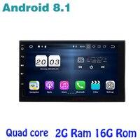 Android 8,1 автомобиль gps радио плеер для 2 din универсальный с 4 ядра ГБ + 16 авто стерео мультимедийное головное устройство Nissan