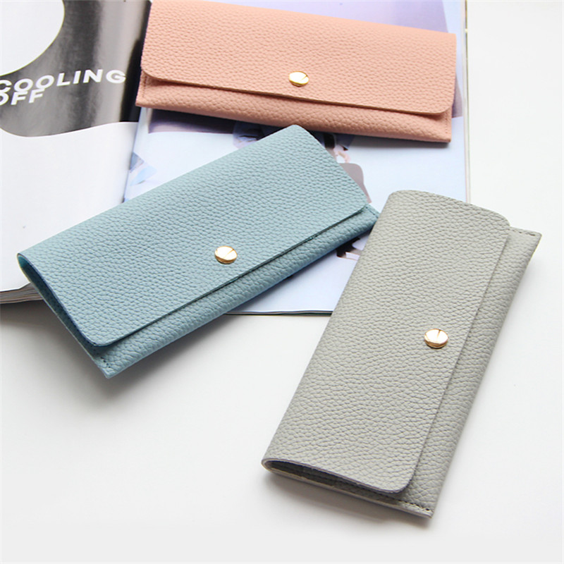 YBYT brand 2018 new simple leisure lichee pattern soft long wallet hotsale ladies PU leather cell phone coin purses card package ybyt brand 2017 new fashion simple solid zipper long women standard wallets hotsale ladies pu leather coin purses card package