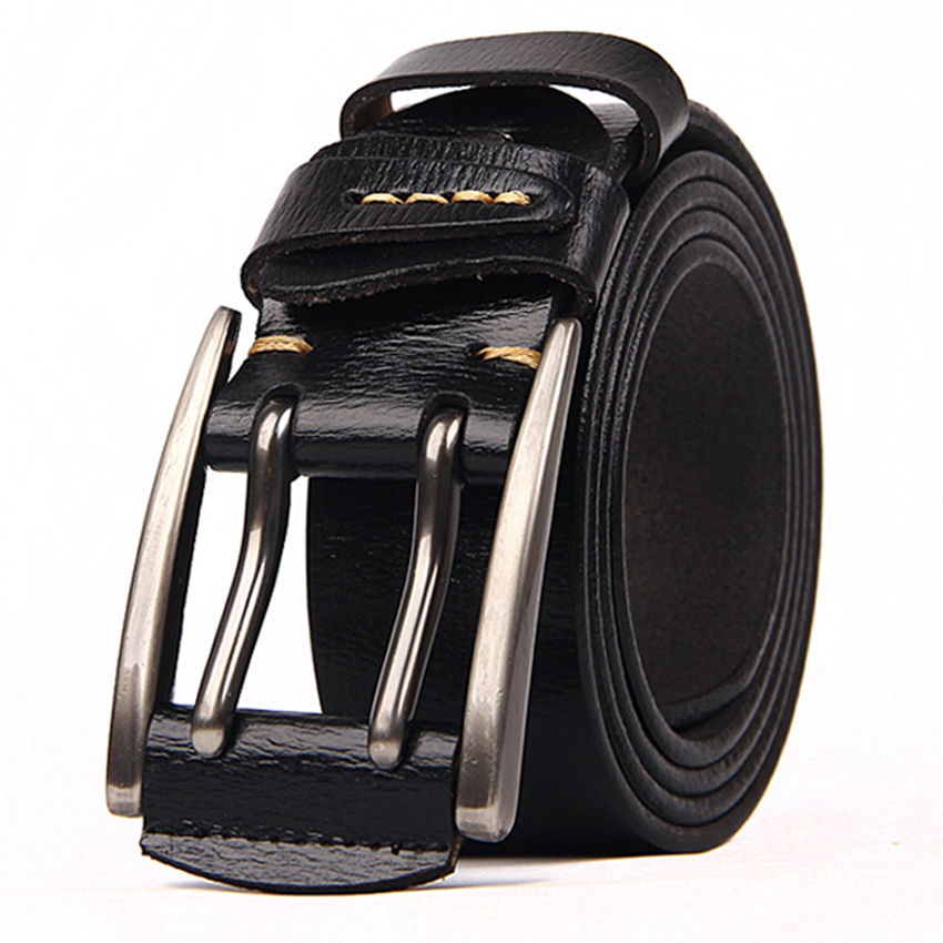 New Arrival Belt For Men Fashion Men Leather Belt Male Strap Waistband For Men 2019 Men Genuine Leather Belt 4.0cm Width