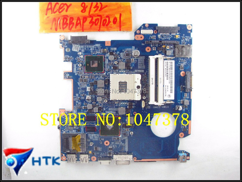 Wholesale 6050a2341701 LAPTOP Motherboard For Acer Travelmate 8732HM55 NON-integrated MBBAP30702 100% Work Perfect tm8372 8372 integrated motherboard for acer laptop tm8372 8372 mbv060b001 6050a2341701