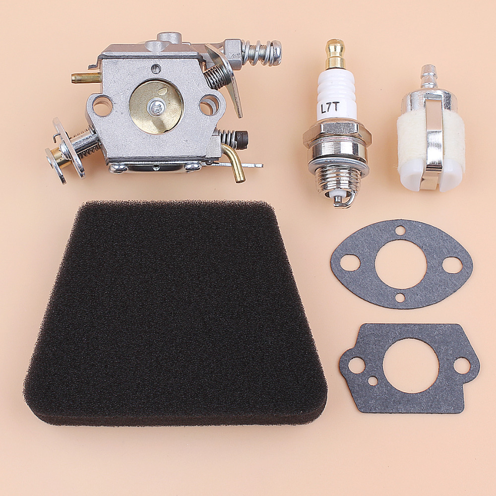 Carburetor Carb Air Fuel Filter Gasket Kit For Partner 350 351 Mcculloch Mac 335 435 440 Chainsaw Replacement Parts Walbro 33-29