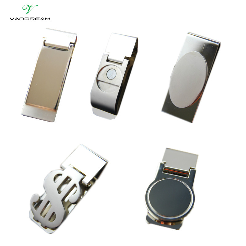 High Quality Stainless Steel /Silver Novel New Slim Pocket Cash ID Credit Card Cash Dollar Holder Small Mini Magic Money Clip ! mini stainless steel handle cuticle fork silver
