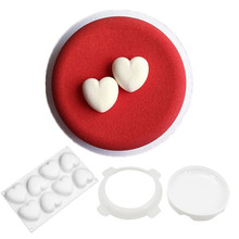 heart round Silicone Cake Molds Decorating Baking Tools Chocolate Mold Baking Mousse Chocolate Mould Bakeware DIY Accessories