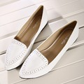 2017 spring new women's shoes flat heel plus size  princess fashion casual shoes for women brand shoes white shoes size 35-43