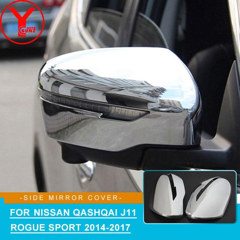 YCSUNZ chrome côté miroir couverture ABS voiture style pièces accessoires pour Nissan Qashqai j11 Rogue Sport 2014 2015 2016 2017 2018