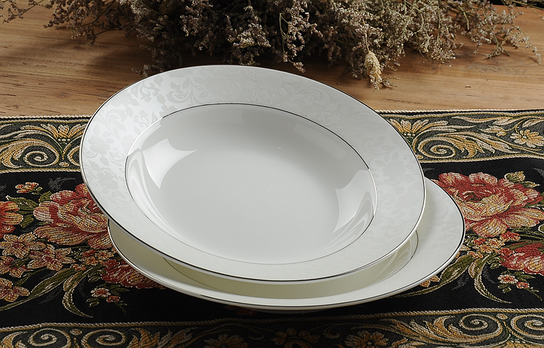 8inch Fine Bone China Soup Dishes And Plates Sets
