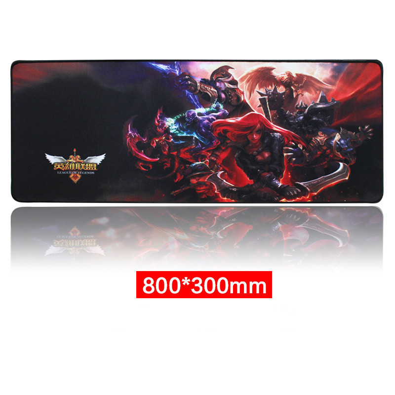 Rubber Large XL 8003003mm Gaming Mouse Pad Laptop Keyboard Mat Stitched Edges_3