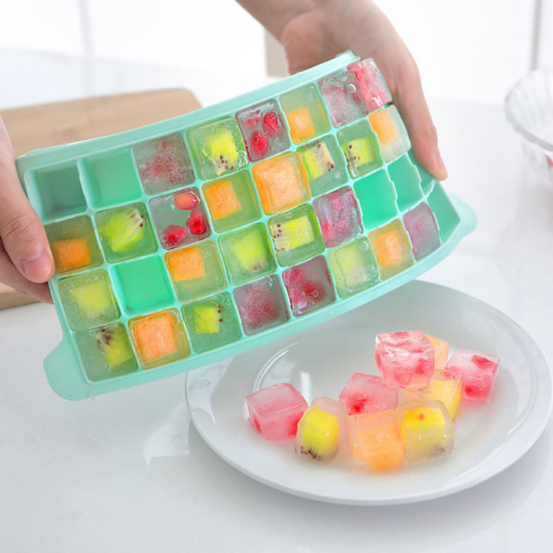Hot 36 Case Summer Ice Tray Juice Cocktail Drink Silicone Ice box Mold Ice Cube Tray