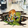 Custom Photo 3d Flooring Mural Self Adhesion Wall Sticker 3 D Tiger Outdoors To Draw Painting