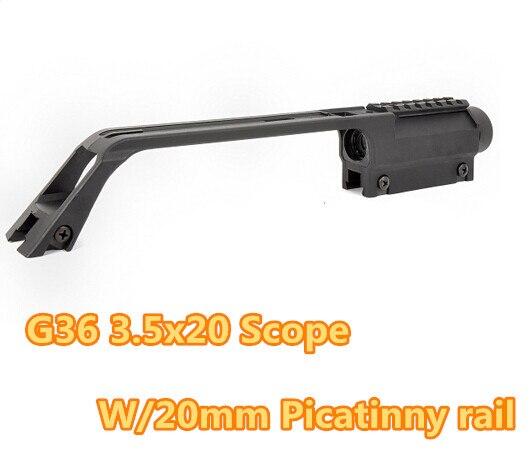 Pro Tactique G36 3.5X Carabine À Air Comprimé Portée w/Top 20mm Picatinny Rail Poignée de Transport Pour softair arme télescope vue