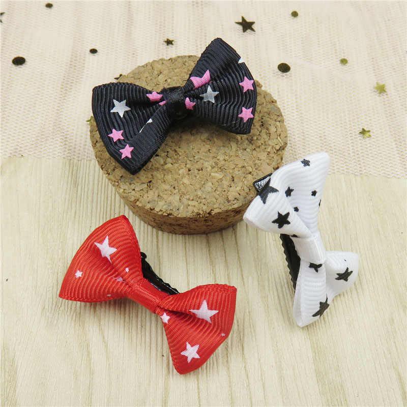 2 יח'\חבילה יפה כוכב פרפר קטן עבור בנות שיער עניבת צ 'יילדס אלסטי להקות שיער פצפוץ קליפים שיער אביזרי עבור ילדים