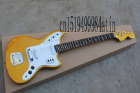 Free Shipping Top Quality Factory Guitar Golden JAGUAR Custom Shop Electric Guitar Stratocaster In St @12