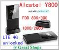 Разблокировать Alcatel One Touch Y800 4G Lte FDD Маршрутизатор Беспроводной 4 Г мобильный Wi-Fi Hotspot Широкополосный 4 г мифи Карманный маршрутизатор wi-fi pk y854