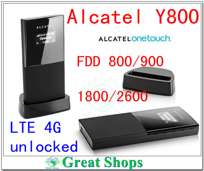 Unlocked Alcatel One Touch Y800 4G LTE Router FDD Wireless 4G Mobile WiFi Hotspot Broadband 4g mifi router Pocket wifi pk y854 alcatel one touch w800 4g lte usb donglealcatel one touch w800o lte wifi dongle