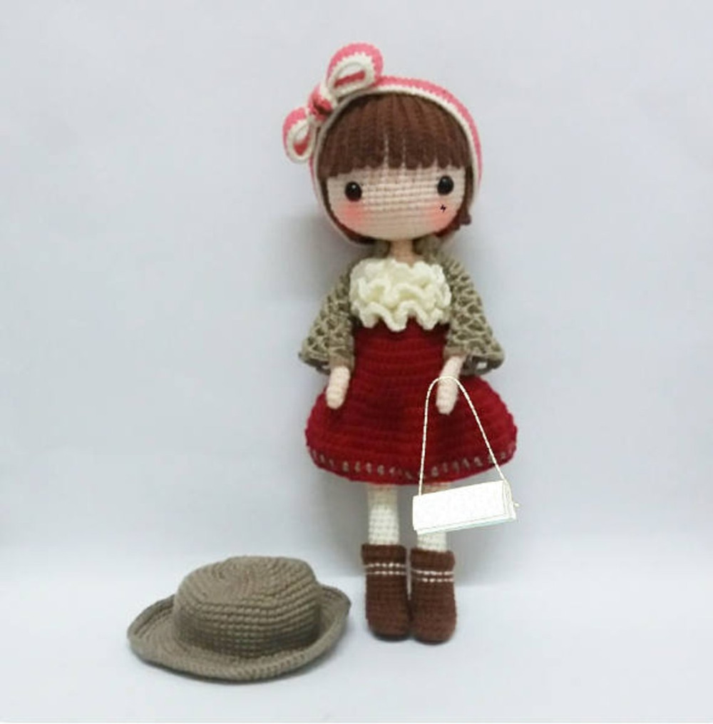 cabelo de croche modelo 2   Cabelo de crochê, Bonecas de crochê ...   1015x1000