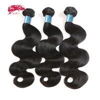 Ali Queen Hair Peruvian Body Wave Weave 100% Human Hair Bundles 8 30inch 3 Piece Mixed Natural Color Virgin Hair Extension