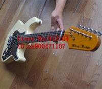 free shipping new Big John single wave electric guitar in yellow with basswood body F 1254