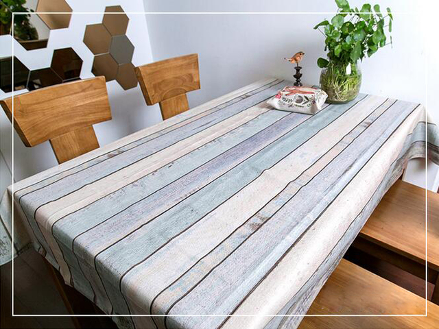 Free Shipping Home Textiles Small Fresh Linens Tablecloth Square Tablecloths  Wood Grain Table Cloth Weeding Table