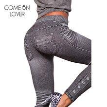 T2418 Comeonlover Work out imitate demin legging gray hot sa