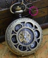 wholesale buyer price good quality man mens vintage old new bronze petal grandpa grandfather mechanical pocket watch