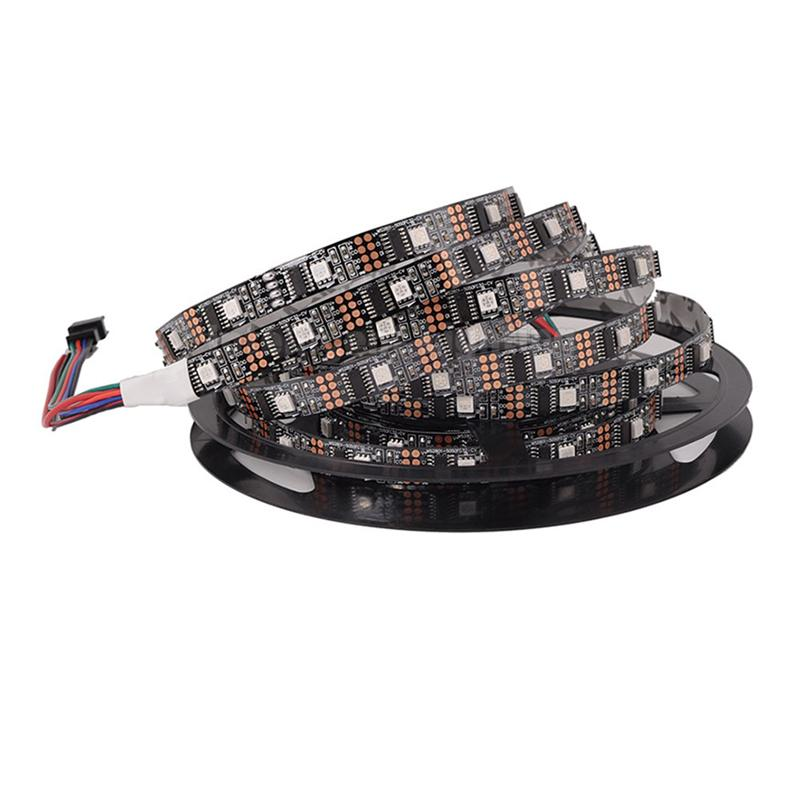 5M 32LEDs/Meter Strip Light Non-Waterproof SMD 5050 WS2801 RGB Strip Lights Led Ribbon Tape Home Decoration Lamp 5m ws2801 raspberry pi control led strip 32leds m external 2801 ic arduino development ambilight dc5v non waterproof 5050 smd