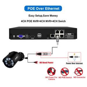 Image 3 - Smar 4CH 4MP POE طقم NVR H.265 نظام الأمن HDMI المعادن 4MP الأشعة تحت الحمراء في الهواء الطلق CCTV IP كاميرا P2P مجموعة مراقبة الفيديو 2 تيرا بايت HDD xyahe