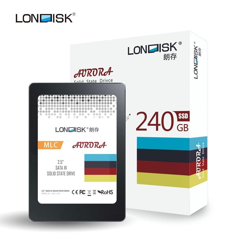 Disque dur interne à semi-conducteurs Londisk SSD 240 GB disque dur SATA III HDD de 2.5 pouces pour ordinateur de bureau portable