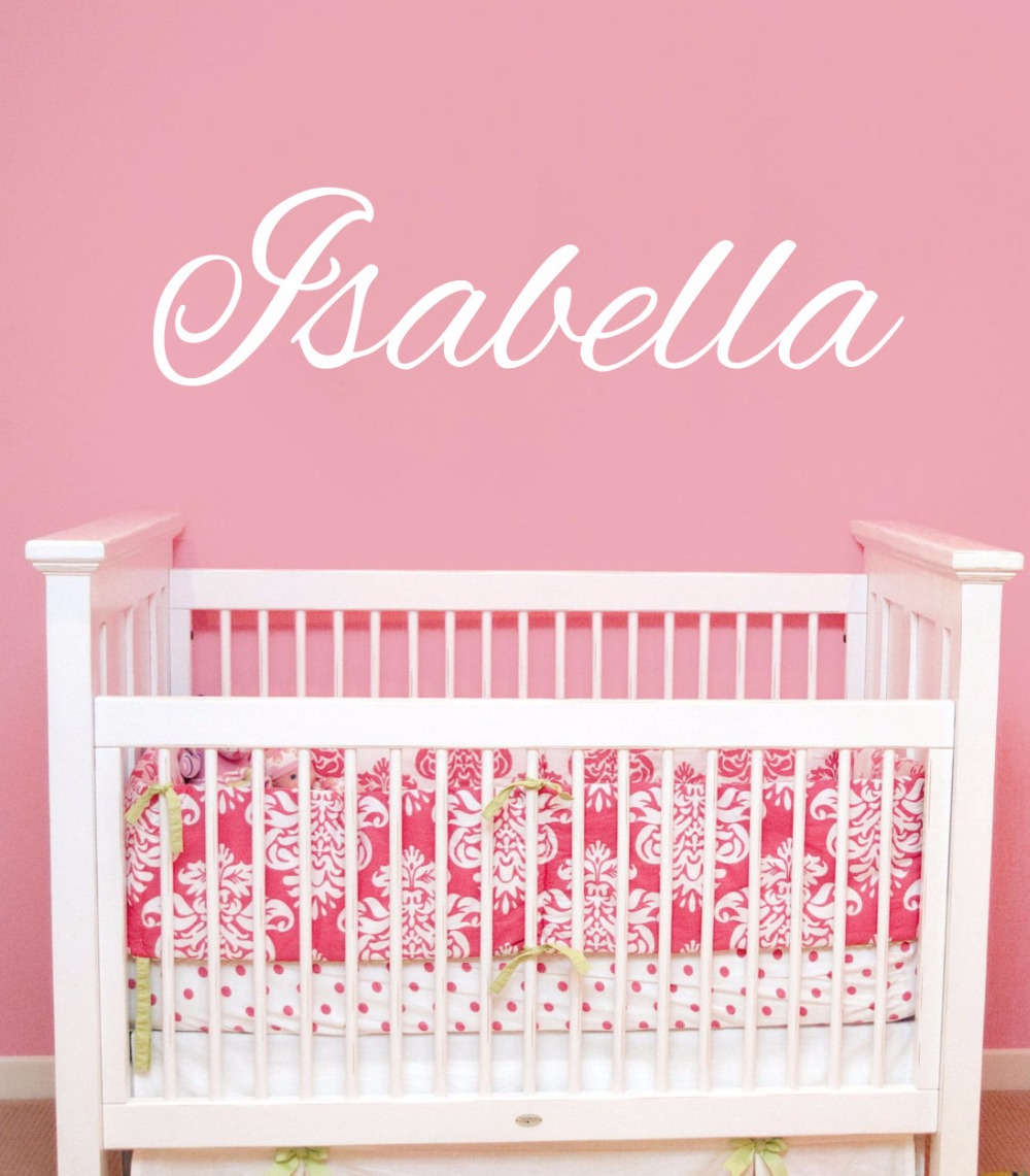 Custom name decals girls personalized name wall sticker for Baby room decor za