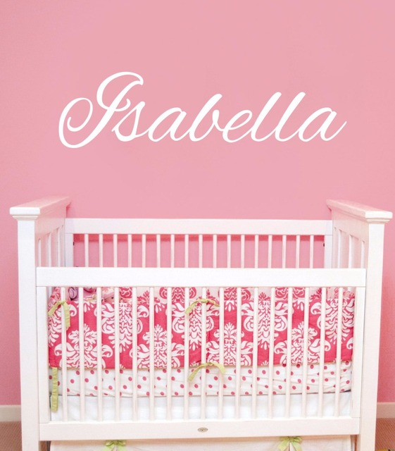 Custom Name Decals S Personalized Wall Sticker Baby Nursery Bedroom Decor Removable Vinyl Home Decal