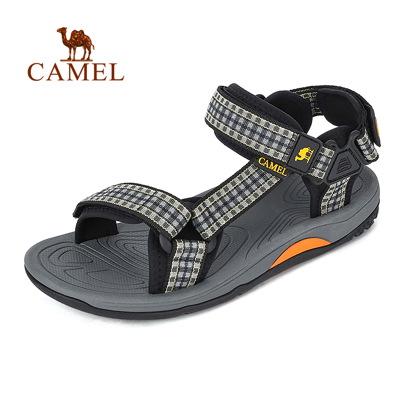 Camel sandals spring and summer men sandals breathable leisure exposed toe leather beach sandals A722162267