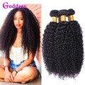 8A Mundo Melhor Cabelo Crespo crespo Mongol 3 Pcs Rosa Produtos Para O Cabelo Cabelo Virgem Encaracolado Kinky Curly Weave Do Cabelo Humano Afro Kinky Curly