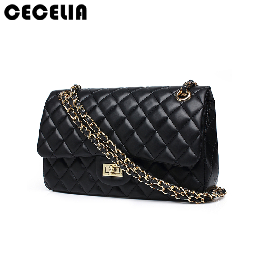 Cecelia black women shoulder bags female party crossbody chain bag plaid handbag quilted sac a main femme women leather handbags fashion genuine leather handbag alligator party bag luxury women leather handbag female shoulder bags sac a main femme de marque