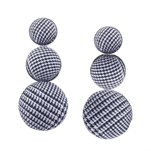 Купить naomy и zp мода свисающие серьги для женщин из фланели массивные