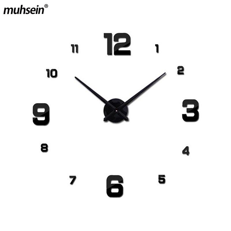 2020 muhsein Large Modern Design Wall Clock 3d Diy Acrylic Mirror Stickers Home Decoration Living Room Quartz Wall Watch Horloge|designer wall clock|wall clock|wall clock design - title=