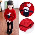 Children's clothing 2017 female child spring and autumn lamb flower sweater cartoon all-match sweater cartoon basic shirt