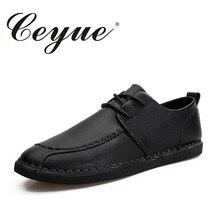 Ceyue новые летние мужские туфли ручной работы повседневная обувь качество кожи Офисные на шнуровке мужские лоферы комфорт при ходьбе Мокасины водонепроницаемые мокасины для мужчин
