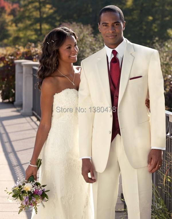80dbb92d7 ممتاز تصميم العاج الشق التلبيب رفقاء العريس البدلات الرسمية أفضل رجل دعوى  الرجال الزفاف العريس suitjacket + سروال + سترة + ربطة