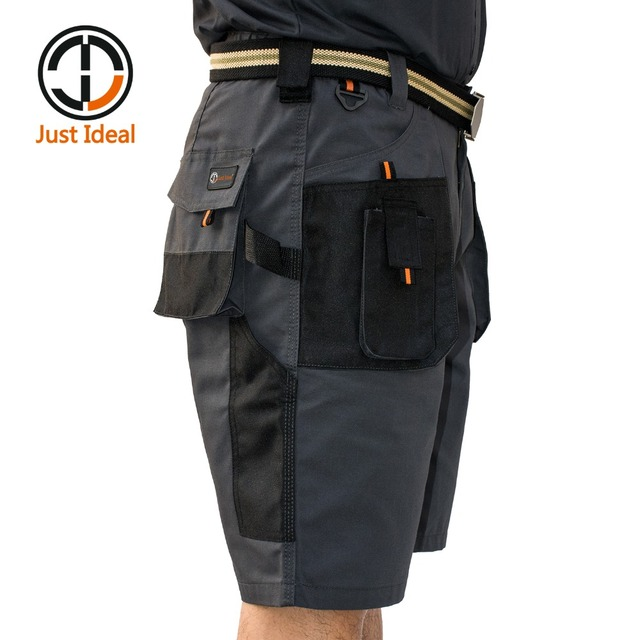 Mens Canvas Shorts Military tactical Short Working Shorts Multiple Pockets Hard Wearing Short European Size Summer Bermuda ID604 1