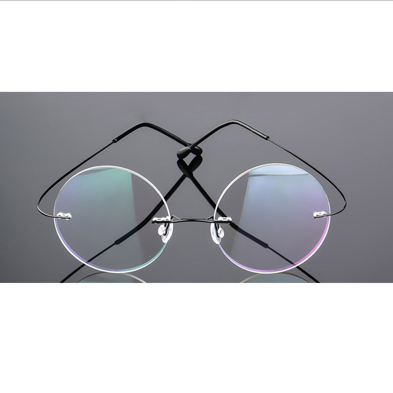 815644f2158db נשים   s משקפיים HD.space ultra-light women titanium rimless Reading  Glasses alloy Rimless reading eyeglasses Presbyopic glasses +1.00 to +6.00